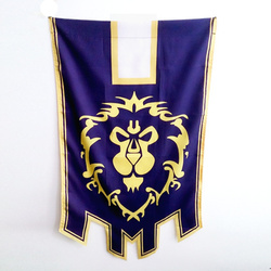 World Of Warcrafts Wow Alliance Horde Banner Flag Dacron Blue Home Decor Cosplay Accessory Cos Prop