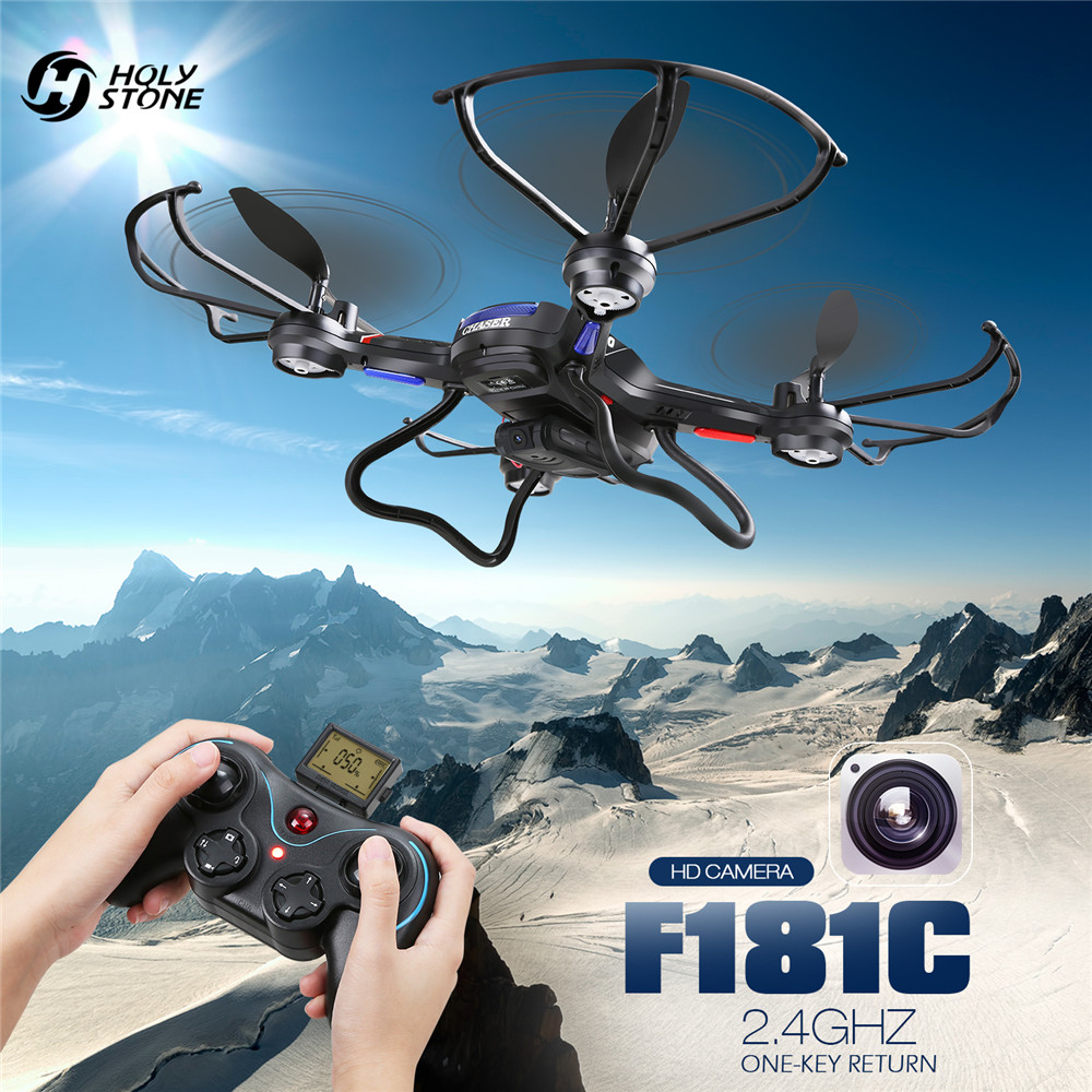 Holy Stone F181C RC Drone HD Camera RTF 4 Channel 6-Gyro Quadcopter Altitude Hold Headless Mode One Key Return Mini Black plane syma x14 mini rc drone headless mode quadcopter altitude hold