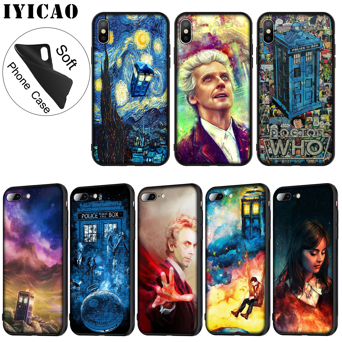 Phone Bags & Cases Buy Cheap Iyicao Tardis Box Doctor Who Soft Silicone Phone Case For Iphone Xr X Xs Max 6 6s 7 8 Plus 5 5s Se Tpu Black Cover Consumers First