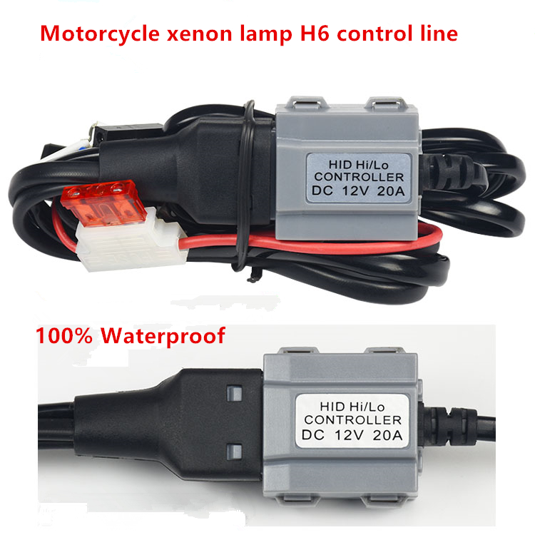 GZTOPHID Bi-xenon lamp HID Low/High controller Wire H6 HID Relay Harness wiring kit motorcycle auto