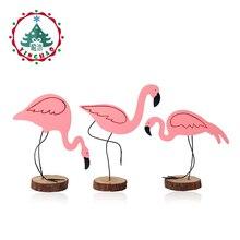 inhoo 3pcs Ροζ Flamingo Διακόσμηση DIY Δωροεπιταγές Γάμου Party Αξεσουάρ Διακοσμητικά Χριστουγεννιάτικα Στολίδια