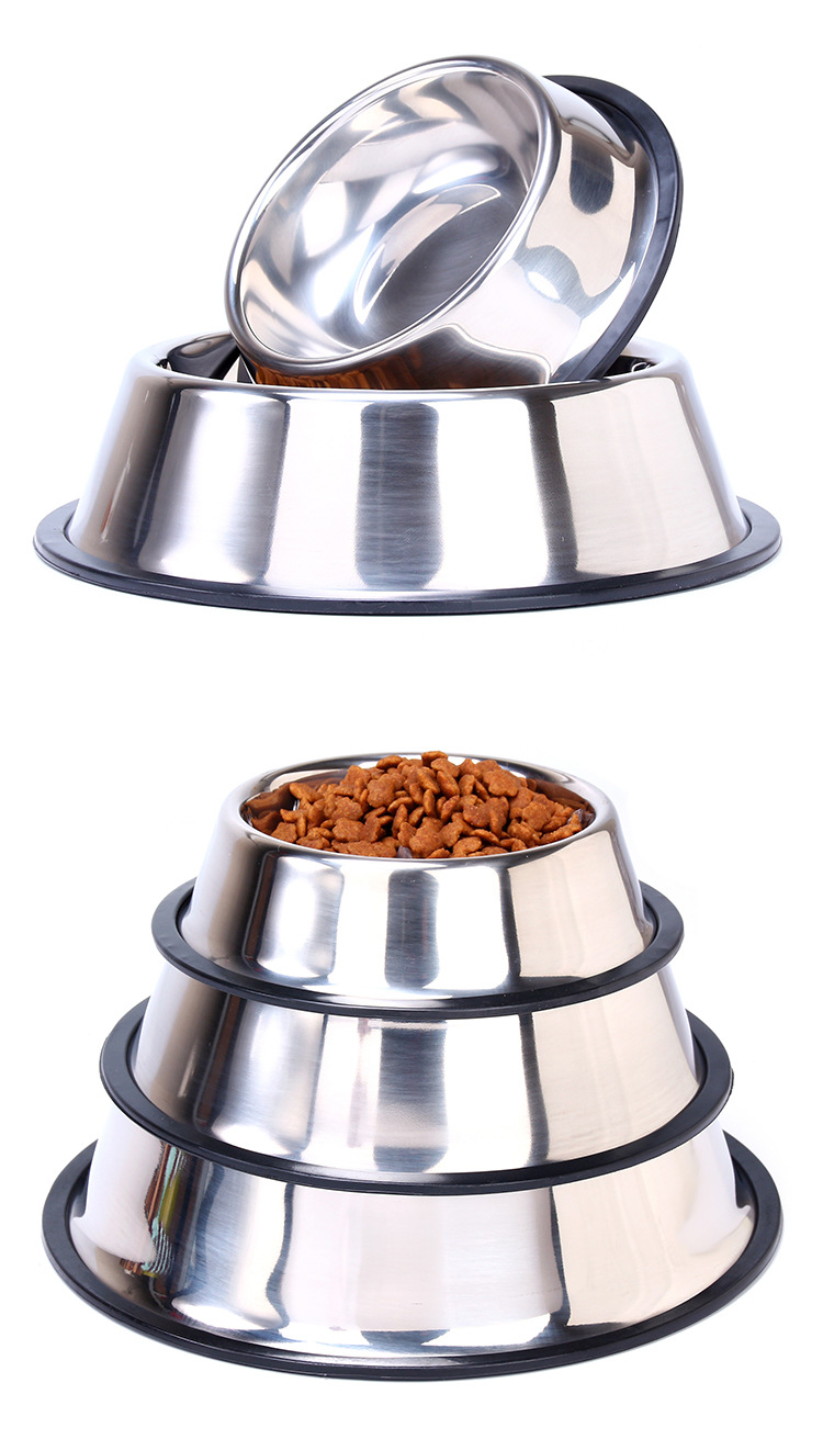 Stainless Steel Dog Bowl Sport Travel Pet Dog Cat  Food Feeder Outdoor Drinking Water Fountain Pet Feeding Tool Cartoon Style #4