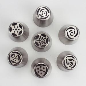 Image 2 - 7 ชิ้น/ล็อตสแตนเลสรัสเซียดอกทิวลิป Icing ท่อหัวฉีดเค้กตกแต่งครีมเคล็ดลับ DIY เค้กเครื่องมือ Bakeware Rose ดอกไม้ปอนด์ 373