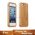 Alta calidad case cubierta para iphone5 protector de madera duro de madera de bambú contraportada case protector para iphone 5 5s capa bambu 5S