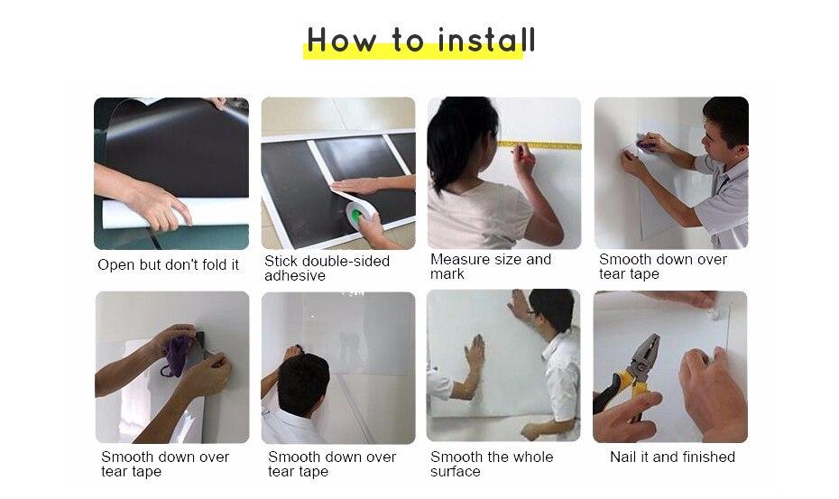 930_11 DIY Whiteboard Writing Board Dry Wipe Ferrous Whiteboard Message Yellow Board 120 x 80 cm x 0.6 mm
