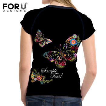 Trend Butterfly 3D Print Summer Women T-Shirt 1