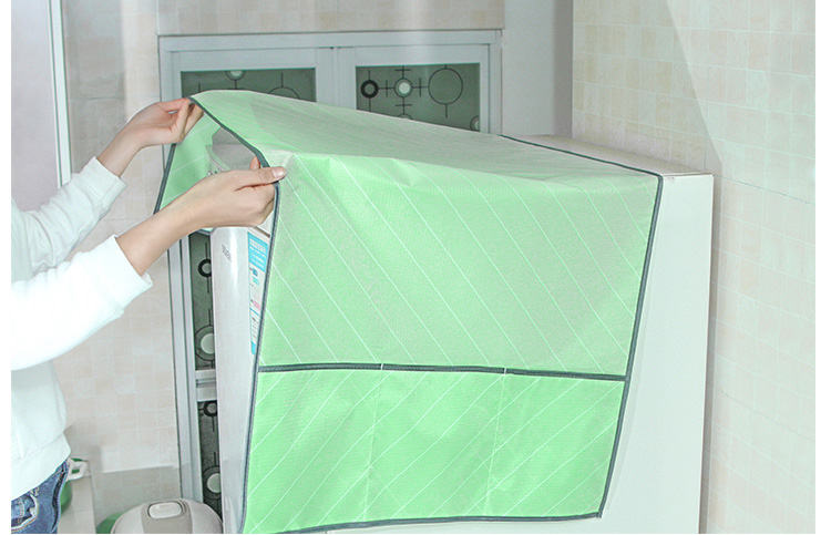 BAKINGCHEF Household Waterproof Refrigerator Dust Cover With Storage Bag For Kitchen Washing Machine Accessories Supplies 10