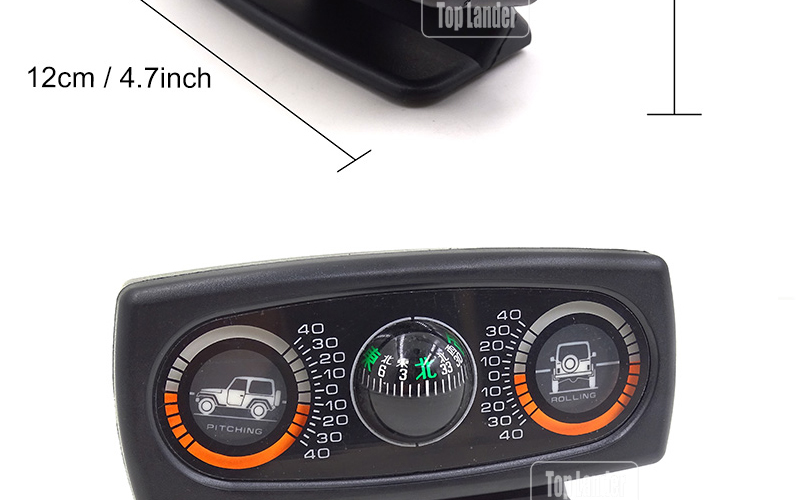US $21 0 40% OFF|3 In 1 Multifunction Car Inclinometer Vehicle Compass For  Jeep SUV Car Accessories Compass Ball Angle Slope Level Inclinometer-in