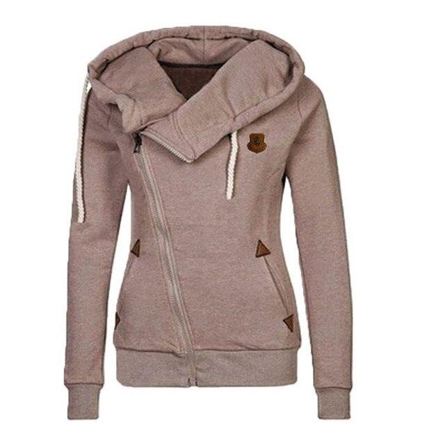 Frühling Zipper Fashion Warm Hoodies Frauen Langarm Hoodies Jacken Hoody Jumper Mantel Outwear Weibliche Sweatshirts