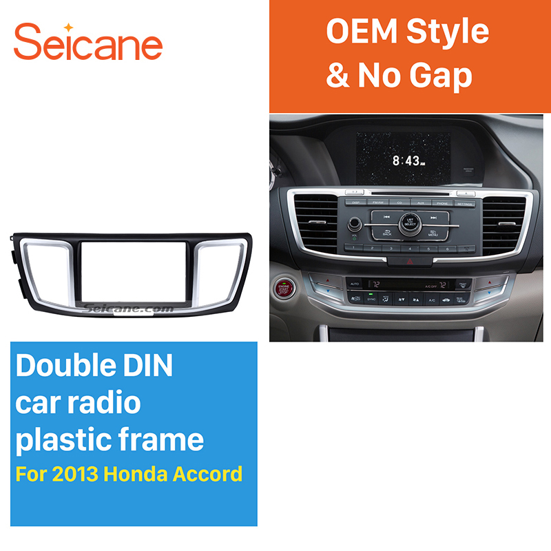 Double Din Radio Fascia for Honda Accord 2013 Common Type Stereo Panel Frame