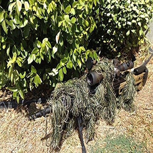 1.2M Airsoft Hunting Blind Ropes Camouflage Ghillie Suit Accessories Elastic Synthetic Fiber Mlitary CS Hunting Blind Gun Wraps 3