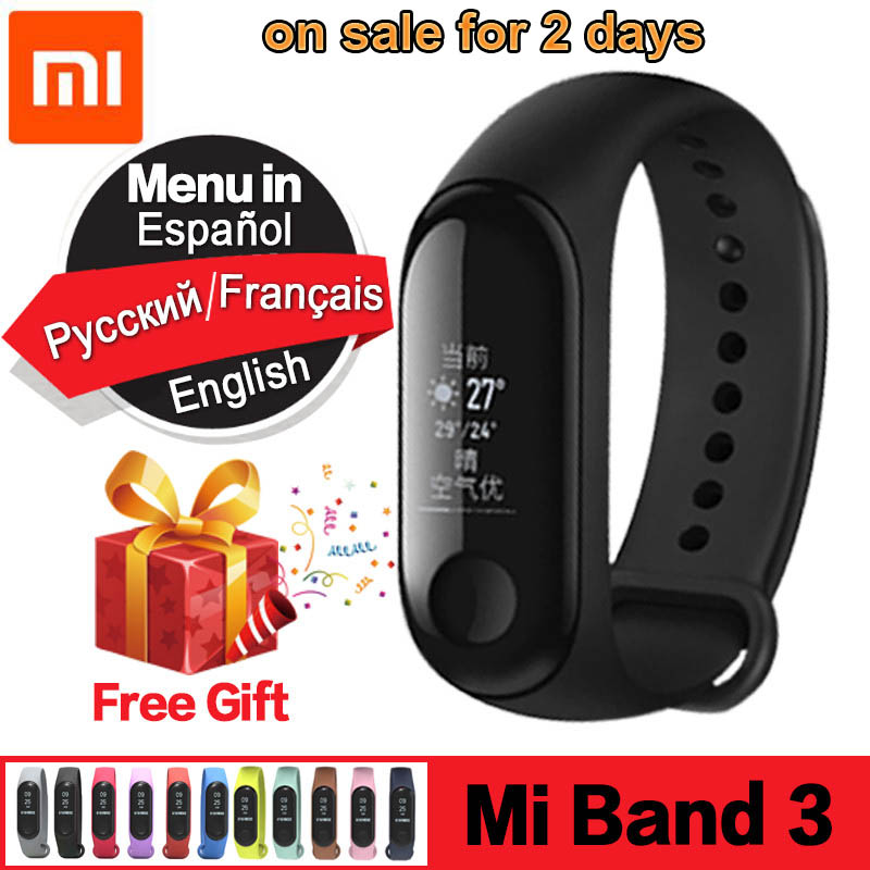 Original Xiaomi Mi Band 3 Smart Band Swimming Waterproof Smart Bracelet OLED Fitness Tracker Heart Rate Monitor Smart Wristband