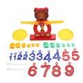 1 Unidades Lindo Oso Niños Juguete Del Bebé Temprano Educativo del Desarrollo Del Cerebro de Equilibrio Equilibrio Números Digitales de Aprendizaje de Matemáticas Juguete FCI #