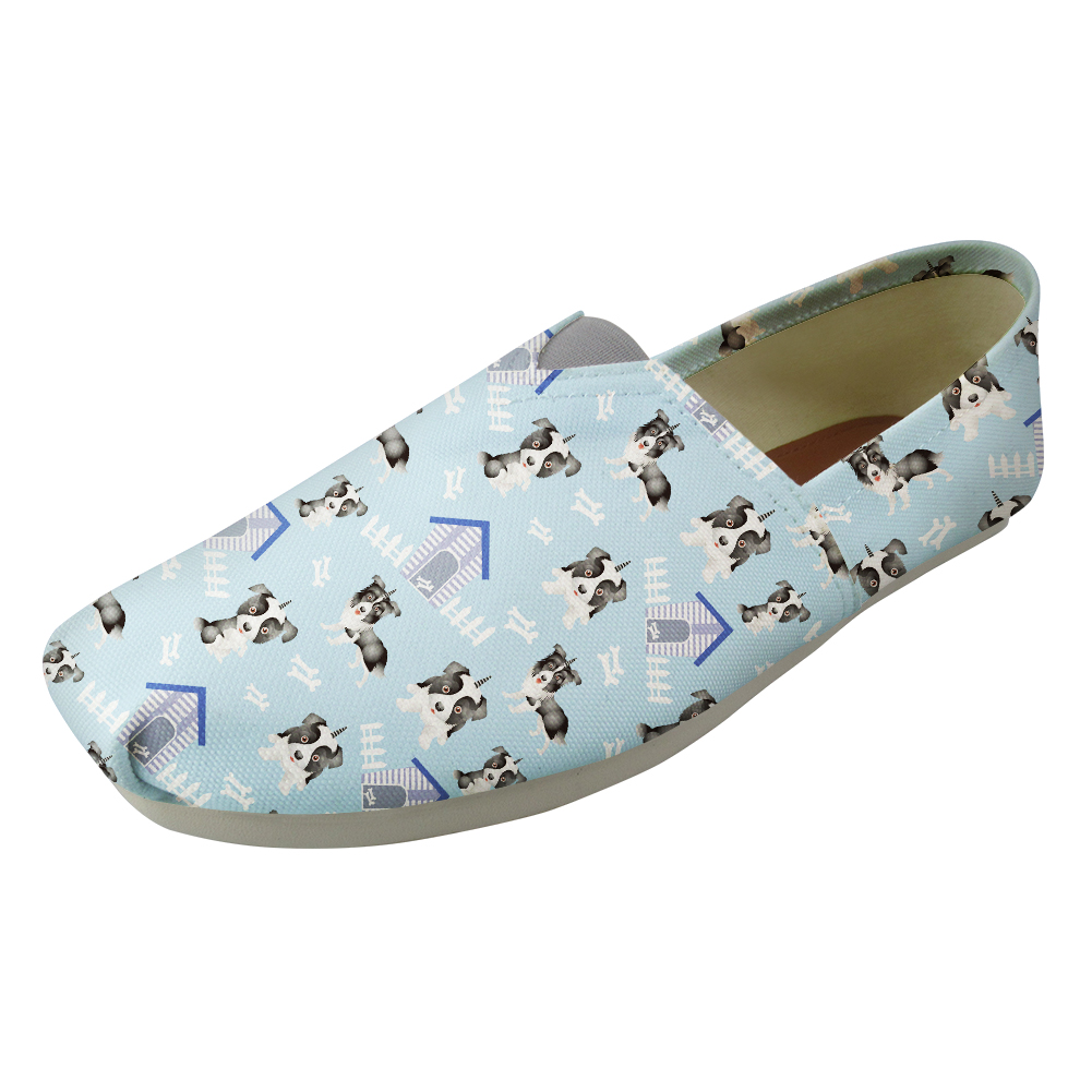 Funny Doghouse Light Blue Women Flat Loafers Ultralight Comfort Nurse Work Flats Slip On Summer Sneakers for Mom Ladies Females instantarts women flats emoji face smile pattern summer air mesh beach flat shoes for youth girls mujer casual light sneakers