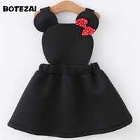 girls clothes Lovely air layer strap girl dress cartoon minnie dress for girls kids dresses for girls cotton autumn baby dress