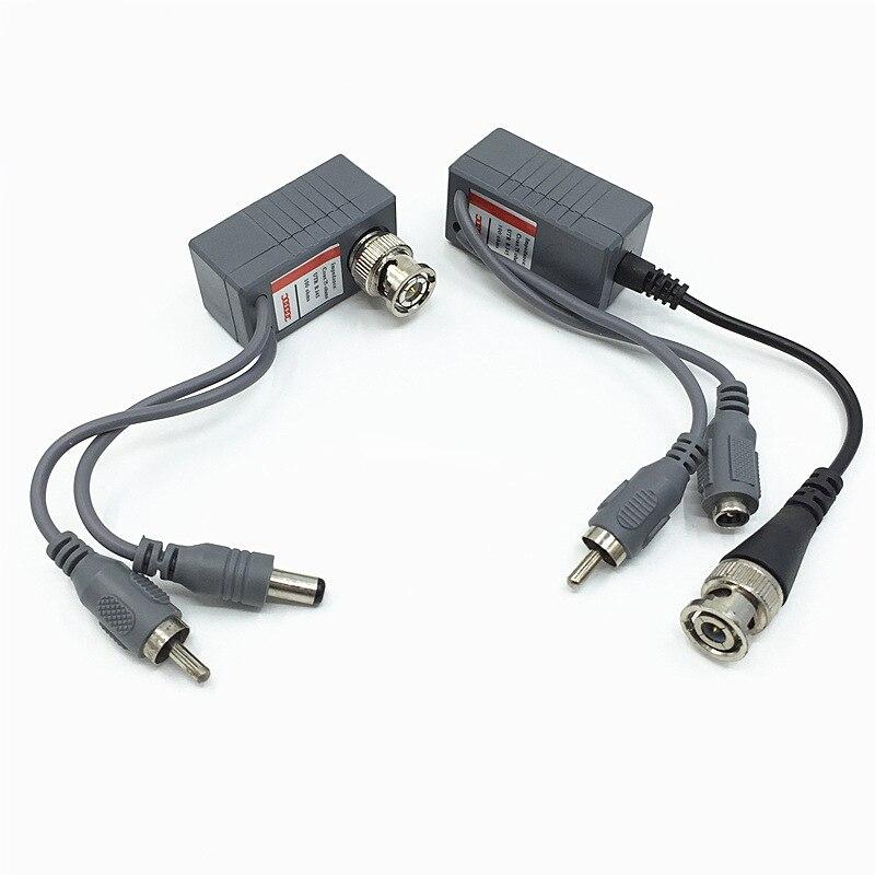 10pcs(5Pairs) Hot UTP CCTV BNC video Balun power Passive Balun Rj45,POE Power Video Audio 3 in 1 Transceivers CCTV spare parts single channel power video audio transceivers set cement grey