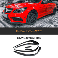 Carbon Fiber Front Bumper Fender Trim Air Vent For Mercedes Benz E Class W207 E350 E400 E550 Coupe Convertible Sport 2014 2016