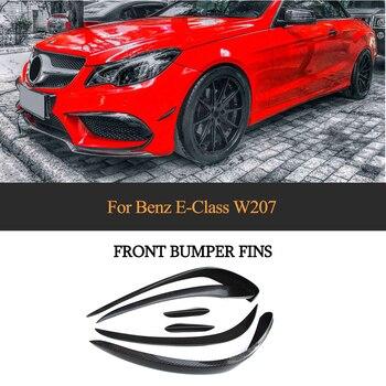 Zderzak przedni z włókna węglowego błotnik wykończenia Air Vent dla Mercedes-Benz E klasa W207 E350 E400 E550 Coupe cabrio sportowe 2014-2016