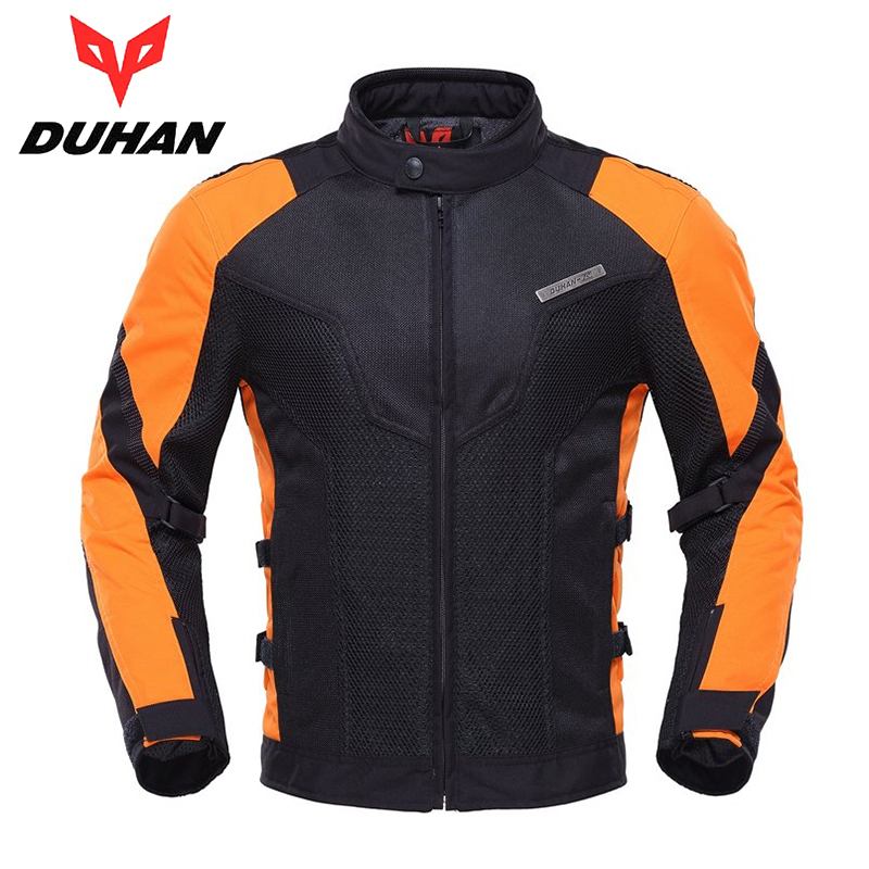 DUHAN Motorcycle Jacket Summer Men Touring Racing Jacket Coat Breathable Mesh Cloth Motorbike Street Racing Clothing D-183 top good motorcycles mesh fabric jacket summer wear breathable hard protective overalls motorcycle clothing wy f607 green