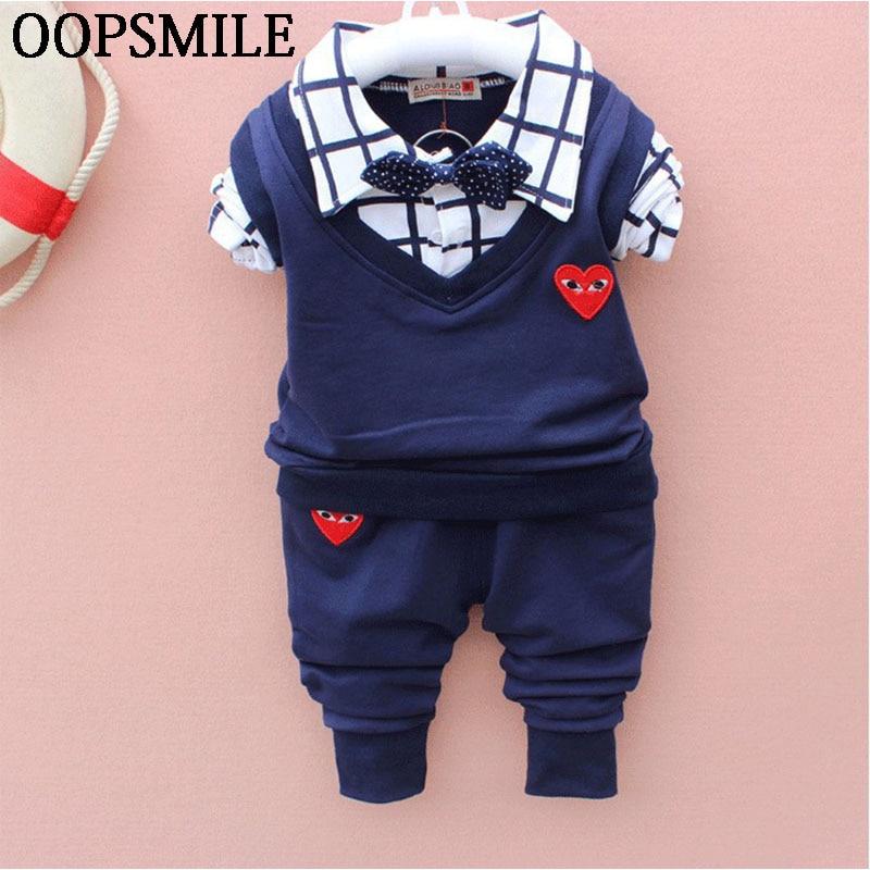 Autumn Baby Boys clothes bebes Suits Infant Newborn