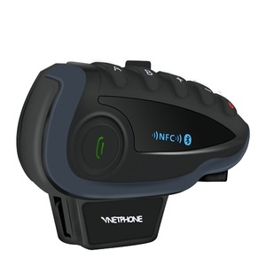 Image 4 - UNA Coppia VNETPHONE V8 Citofono Del Motociclo 5 Piloti Sistema di Comunicazione Bluetooth Casco Walkie Talkie NFC A Distanza di Controllo