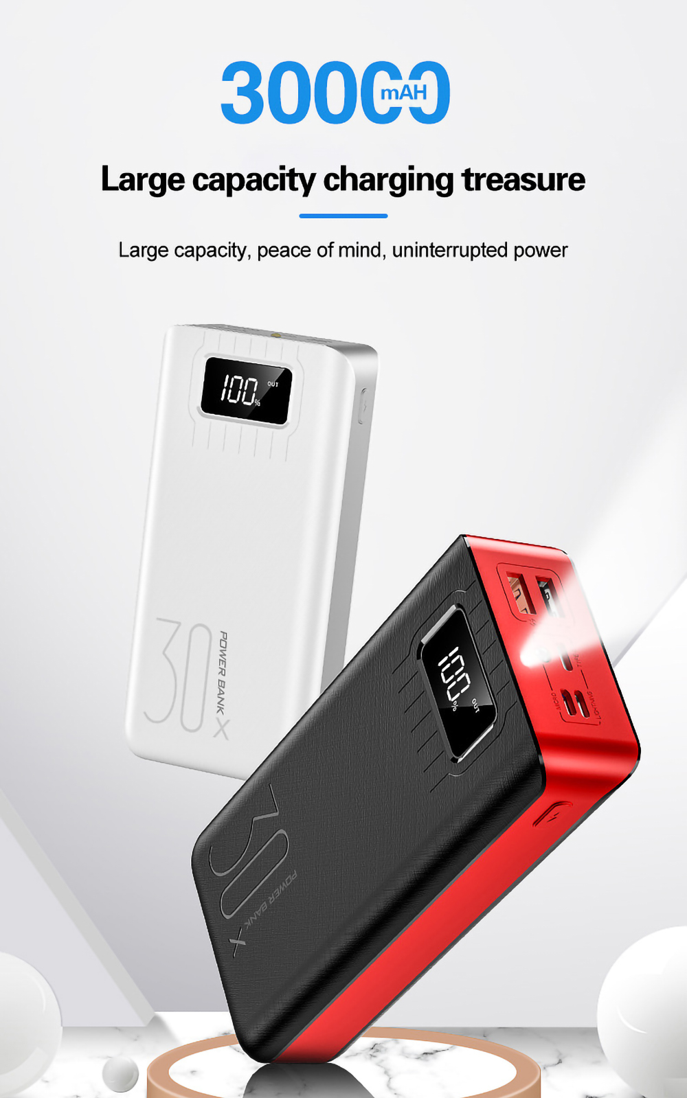 Portable 30000mAh States Charger 2