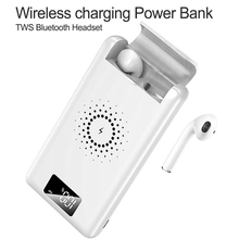 Potable 3 in 1 QI Wireless Charger Power Bank For iPhone X XS Max XR Multi-function Fast Bluetooth Earphone