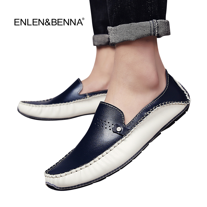2017 Brand Summer Causal Shoes Flat Men Loafers Leather Moccasins Men Driving Shoes Sewing High Quality Flats For Man size 38-44 summer causal shoes men loafers genuine leather moccasins men driving shoes high quality flats for man