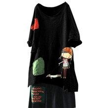 Feitong женские топы размера плюс с принтом и коротким рукавом, одноцветные топы с круглым вырезом, женские блузки с открытыми плечами, Топы harajuku