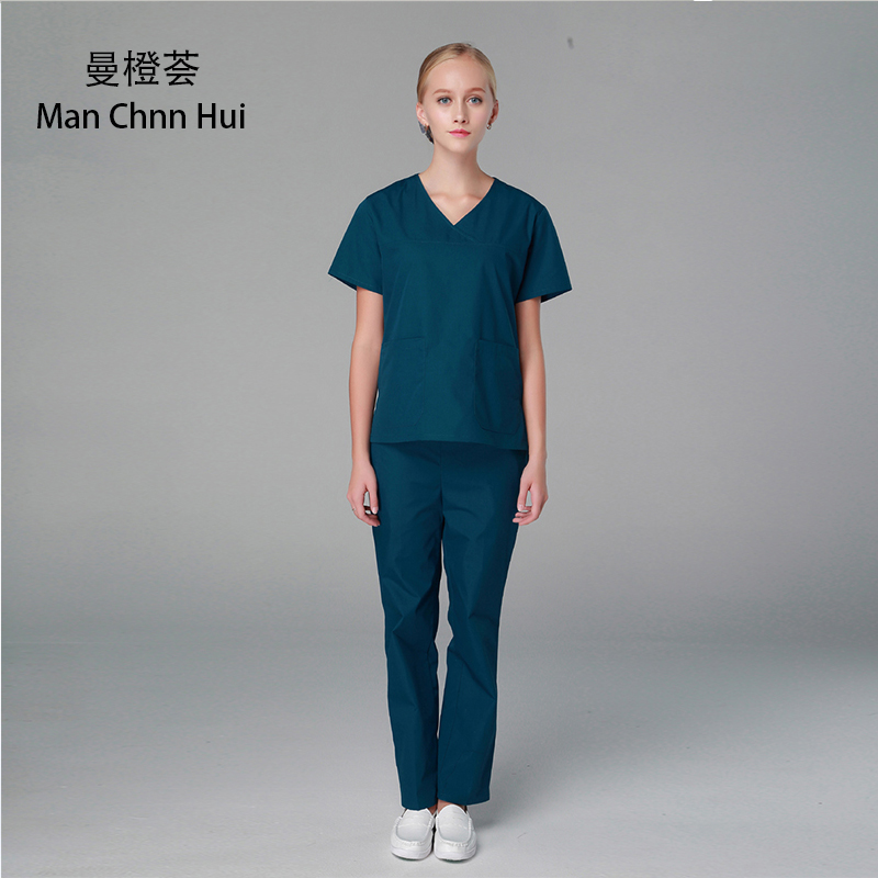 a5577f8766a Hospital Nurse's suit medical Overalls Surgical shirt + Pants doctor's clothing  surgical scrub suit medical clothing for Women