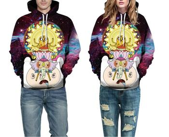 Hoodies Space Galaxy Adventure time Sweatshirt 3D Hoodie Hip Hop Coat Casual Streetwear Print Thin tops Hat Sweatshirt Men Women 1
