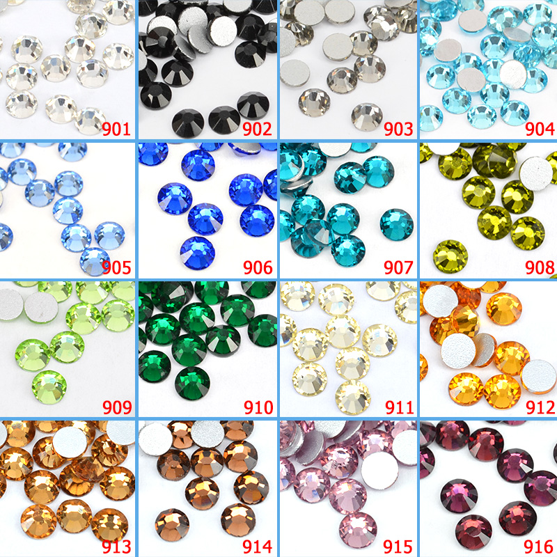 #901 Rhinestones Diamond Decoration CANNI 1440 PCS Crystal White Fatback Rhinestone Glass Bling Diamond Decoration gametrix kw 901