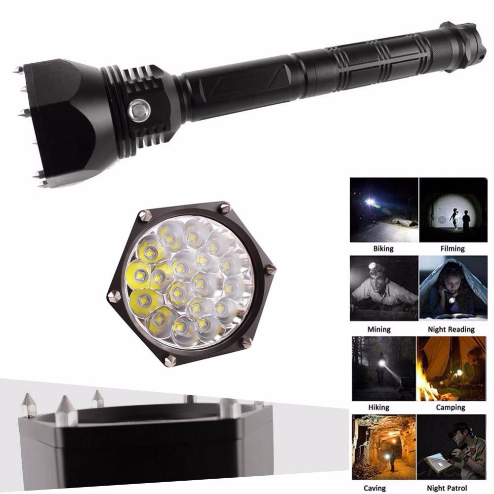 Professional High Quality Modes XM-L L2 LED Flashlight Zoomable Torch Light Strong Lumens Penlight Lantern