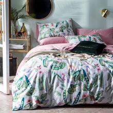 2019 Green Beans Leaves Fresh Duvet Cover Set Luxury Egyptian Cotton Fabric Bedlinens Queen Size Bedding Set Bedsheet Bedspread