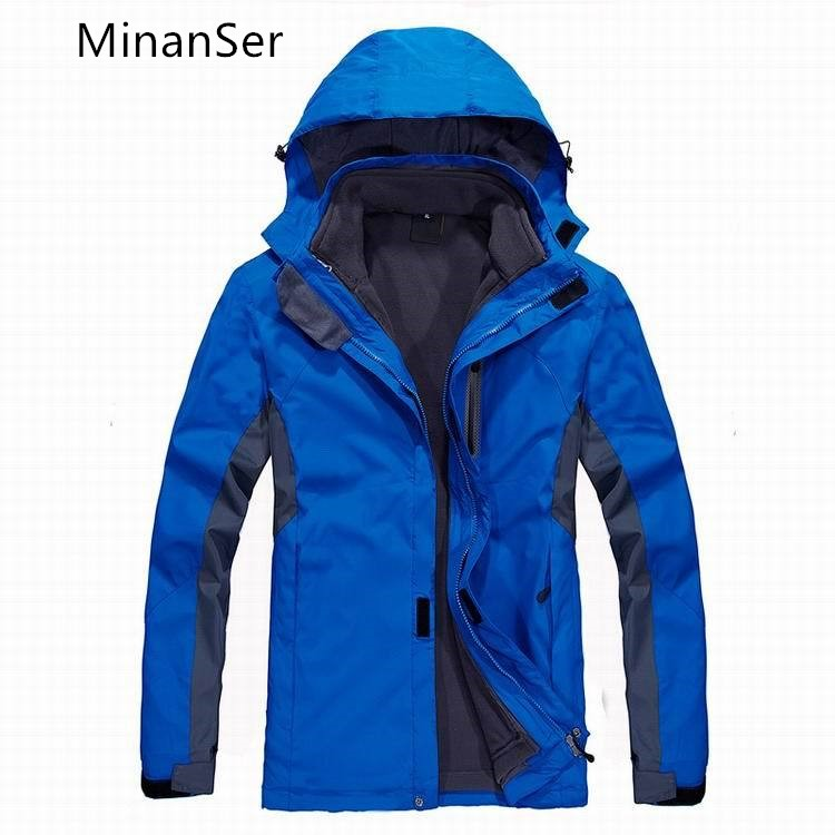 MinanSerWaterproof and windproof men's cold, warm and warm multi-functional men's suit with a three-in-one suitinanSer detachable children with multi functional three mother kangaroo sweater