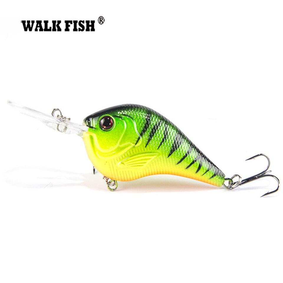 Walk Fish 1Pcs 9.5cm 11g Fishing Lure Deep Swimming Crankbait Hard Bait Tight Wobble Slow Floating Fishing Tackle