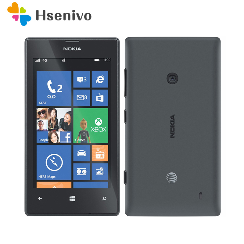 100% Original 520 phone Nokia Lumia 520 cell phone Dual core 8GB ROM 5MP GPS Wifi 4.0 IPS unlocked windows phone Free shipping image