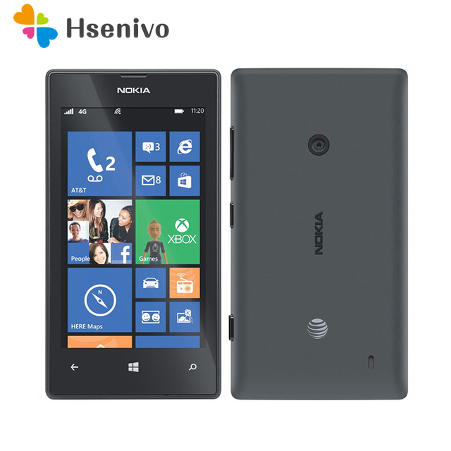 100 Original 520 Phone Nokia Lumia Cell Dual Core 8gb Rom 5mp Gps Wifi 4 0 Ips Unlocked Windows Free Shipping