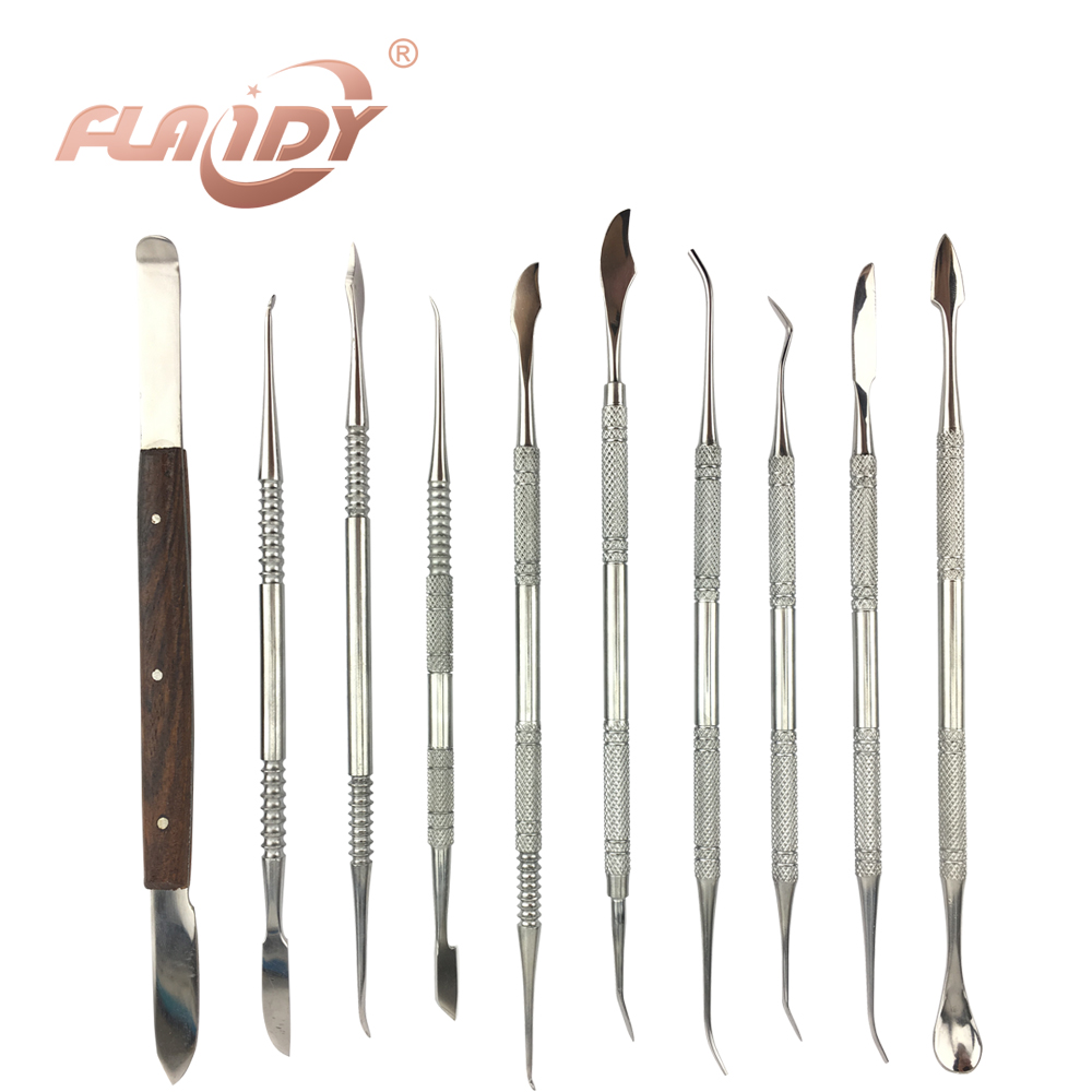 A0006 High Quality Dental Lab Equipment Wax Carving Tools Set Surgical Dentist Sculpture Knife Instruments Tool Kit1Set(10Pcs) 1 set new dental lab equipment automatic crown remover set dentist tools for dental materials