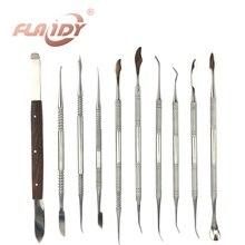 A0006 высокое качество Стоматологическое оборудование лаборатории Воск Резьба Набор инструментов хирургическая стоматолог Скульптура Ножи инструменты инструмент Kit1Set (10 шт.)