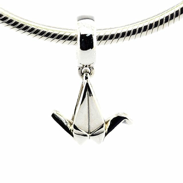 100 925 sterling silver origami crane charm pendants fit bracelets 100 925 sterling silver origami crane charm pendants fit bracelets necklace diy fine jewelry aloadofball Images