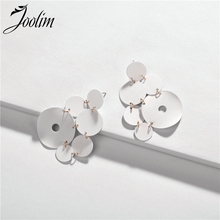 JOOLIM Pink White Black Painted Dis Drop Earring Chandelier Trendy