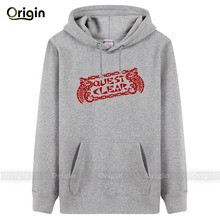 Man womens hoodies sweatershirt Quest Clear thick fleece hoody game player fashion jacket black red XXXL