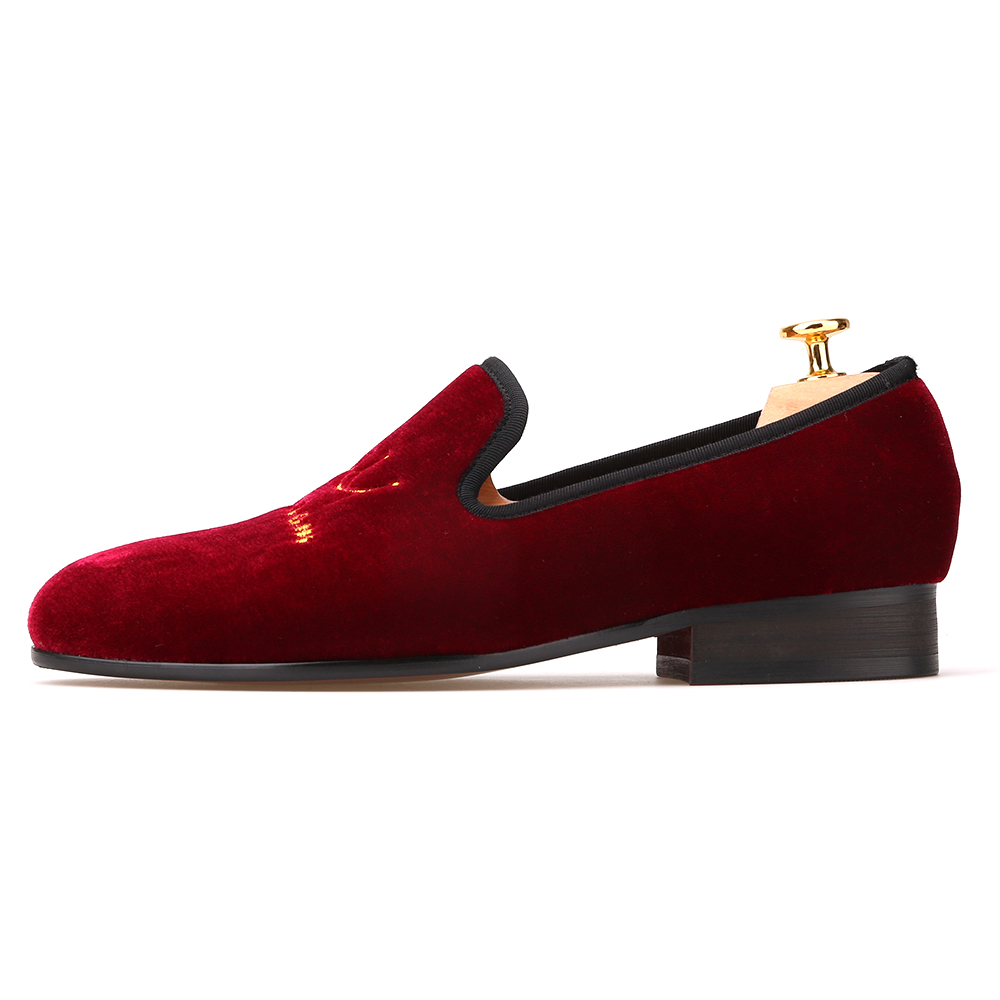 91e8bc7c1 New style crown embroidery handmade men velvet shoes men loafers wedding  and party shoes men flats size US 4-17 Free shipping - aliexpress.com -  imall.com