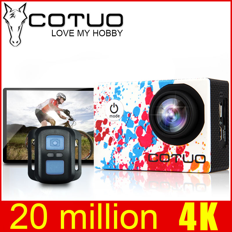 COTUO CS96 Action Sports Caméra 4 K Gyro De Vision Réglable 170D angles 2.0 LCD Wifi NTK96660 30 M Étanche Équitation casque Caméra