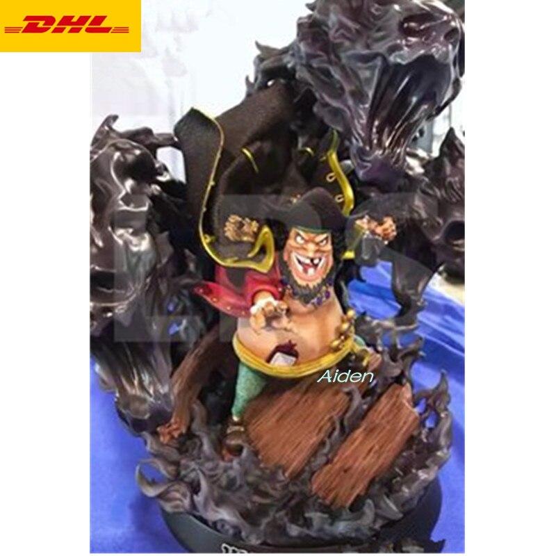 """13 """"estatua de una pieza de los piratas de la barba negra busto de cuatro temperadores de longitud completa retrato Marshall D. figura de acción Teach GK juguete 33CM B1290-in Figuras de juguete y acción from Juguetes y pasatiempos    1"""