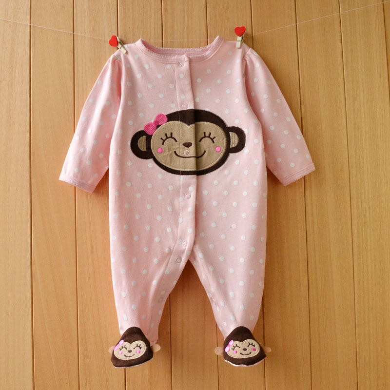2017 New Fresh baby rompers cotton 100% girls clothes long sleeve romper Baby Jumpsuit newborn baby Clothing Packed feet romper newborn baby rompers baby clothing 100% cotton infant jumpsuit ropa bebe long sleeve girl boys rompers costumes baby romper