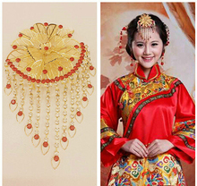 Newest Classical Chinese Designs Handmade Beads  Costume Hair Comb ,Bridal Wedding Frontlet Accessory