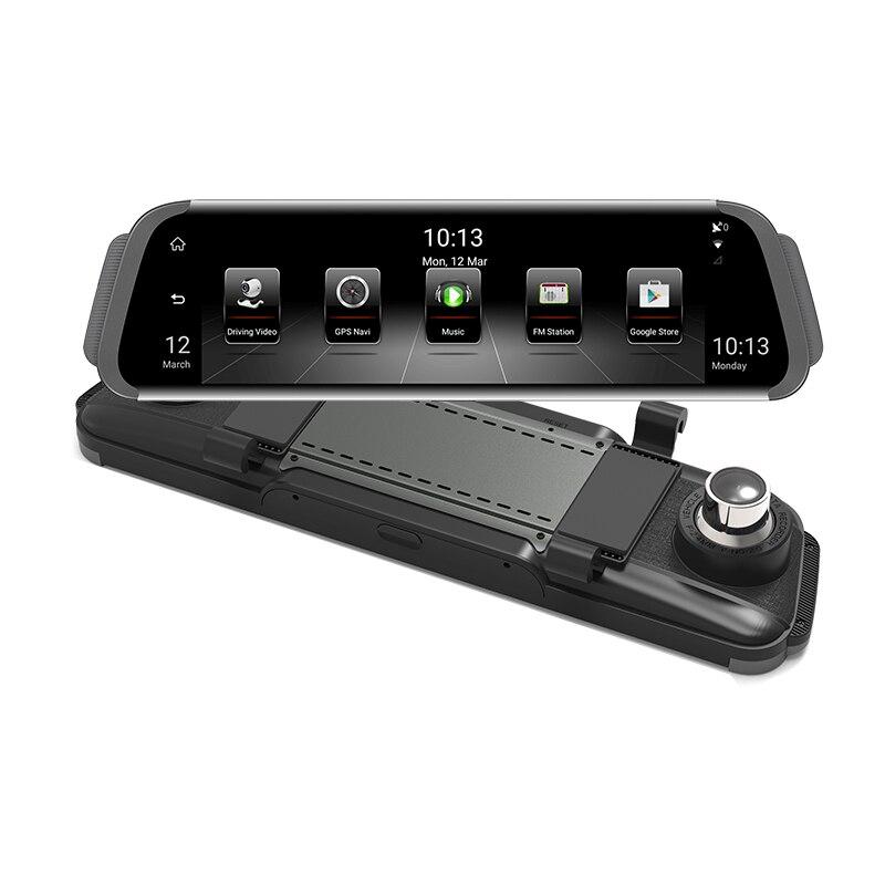 10 Full Touch ips 4G Android зеркало gps FHD 1080 P двойной объектив Автомобильный видеорегистратор зеркало заднего вида для авто камера ADAS BT wifi