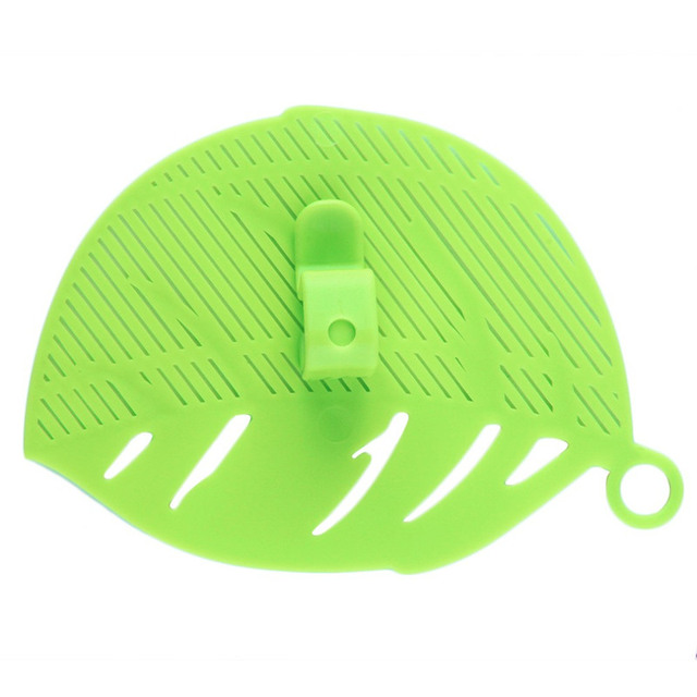 1PC Durable Clean Leaf Shape Rice Wash Sieve Beans Peas Cleaning Gadget Kitchen Clips Tools 4 Colors